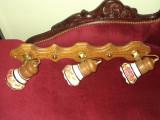Un elegant lampadar cu 3 brate cu portelan pictat manual