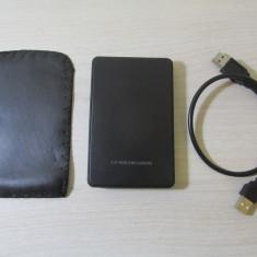 Rack HDD harddisk extern laptop USB 2 0 SATA cu husa si cablu produs nou