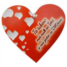 Tablita Te iubesc mai mult ca ieri, din lemn - Jocuri Litere si Cifre