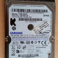 """HDD-25.HDD Laptop 2.5"""" SATA 160 GB Samsung 5400 RPM 8 MB"""