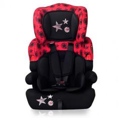 Scaun Auto Kiddy 9-36 kg 2017 Black Red Stars - Scaun auto copii, 1-2-3 (9-36 kg)