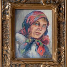 D.SILAGHI -PORTRET DE FEMEIE - Pictor roman, Portrete, Ulei, Altul