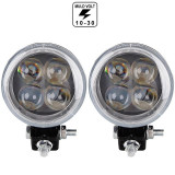 Proiector pe LED Auto  12W SPOT 4D cu Angel Eyes 12/24V AL-210217-3, Universal