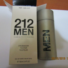 PARFUM TESTER C.H 212 MEN -- 100 ML -SUPER PRET, SUPER CALITATE! - Parfum barbati Carolina Herrera, Apa de toaleta