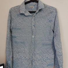 Îmbrăcăminte Moschino - Camasa barbati Made in Italia, Marime: M, Culoare: Bleu