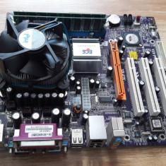 Vand KIT 775 ECS +proc 3Ghz + 1GB ram la 50lei - Placa de Baza ECS, Pentru INTEL, LGA775, DDR, Contine procesor, MicroATX