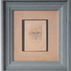 IOSIF STEURER -AUTOPORTRET - Pictor roman, Portrete, Ulei, Altul