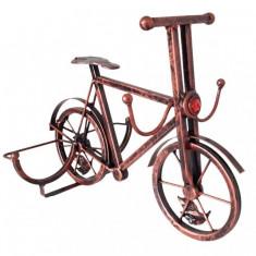 Suport din fier forjat pentru 2 sticle de vin - Bicicleta