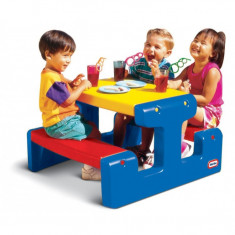Masuta junior pentru picnic, albastra Little Tikes - Spatiu de joaca
