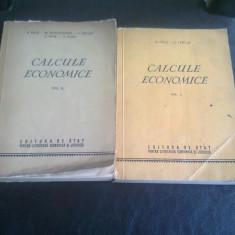 CALCULE ECONOMICE - S. PELZ 2 VOLUME - Carte Contabilitate