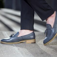 Pantofi Spring Loafer COD: PLS-1. Disponibili in 2 culori. ** NEW COLLECTION ** - Pantofi barbat, Marime: 39, 42, 43, 44, Culoare: Bleu, Maro, Piele naturala