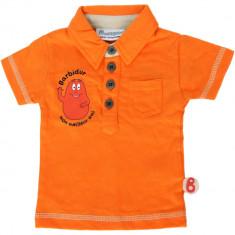 Tricou polo portocaliu pentru copii, Barbapapa Kiabi