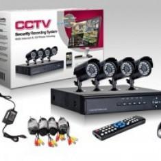 Sistem DVR supraveghere video cu 4 camere pentru interior si exterior Practic HomeWork
