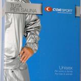 Costum sauna din PVC gros - masura XL - bluza si pantaloni - - Echipament Fitness, Costum fitness