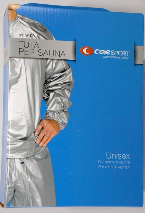 Costum sauna din PVC gros - masura XL - bluza si pantaloni - foto mare