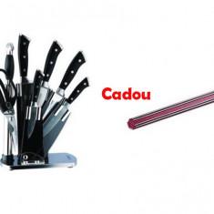 Set Cutite inox 8 piese Cadou Suport Magnetic Practic HomeWork - oala, cratita