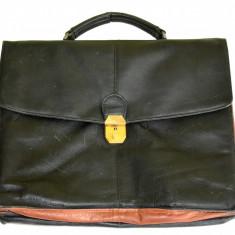Geanta eleganta de culoare neagra, servieta pentru documente din piele naturala - Geanta Barbati, Marime: Medie, Culoare: Maro