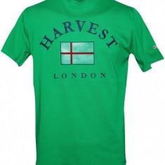 Tricou din bumbac 100% cu imprimeu Harvest London, verde, pentru barbati