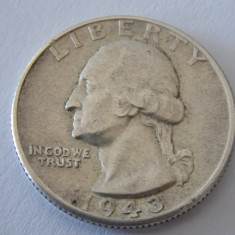 Moneda argint quarter dollar 1943