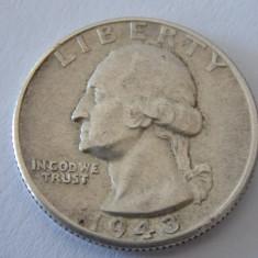 Moneda argint quarter dollar 1943, America de Nord