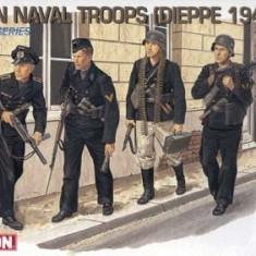 + Kit de figurine 1/35 - Dragon 6087 - German Naval Troops Dieppe 1942 +