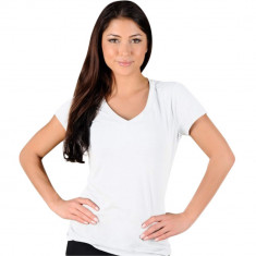 Tricou alb cu anchior Twinnie, de dama
