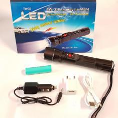 Lanterna electrosoc acumulator LiIon primul electrosoc incarcare 12v, 220v, USB