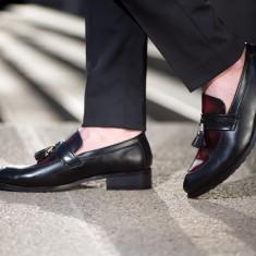 Pantofi Star Loafer COD: PLS-2 *** NEW COLLECTION! *** - Pantofi barbat, Marime: 38, 39, 40, 41, 43, 44, Culoare: Negru, Visiniu, Piele naturala
