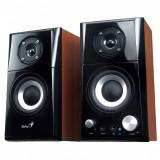 Boxe Genius SP-HF500A, 2.0, 14W RMS, Black & Cherry Wood - Boxe PC
