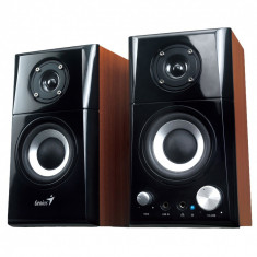 Boxe Genius SP-HF500A, 2.0, 14W RMS, Black & Cherry Wood - Boxe PC