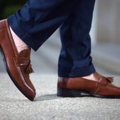 Pantofi Spring Loafer COD: LFR-1. Disponibili pe negru sau maro. NEW COLLECTION! - Pantofi barbat, Marime: 39, 41, 42, 43, 44, Piele naturala