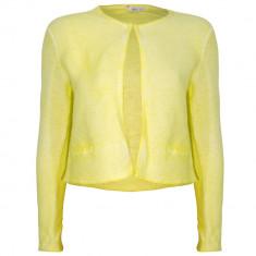 Cardigan tricotat din bumbac Miss Etam, galben, pentru femei