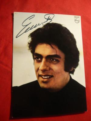 Fotografia cantaretului Enrico Macias , cu autograf foto