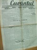Cuvantul 13 octombrie 1929 Maniu Nae Ionescu Craiova Cernauti Ardeal O. Goga