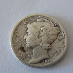Moneda argint one dime 1929, America de Nord