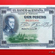 SPANIA - 100 Pesetas 1925 - bancnota europa