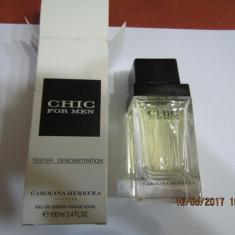 PARFUM TESTER C.H CHIC FOR MEN -- 100 ML -SUPER PRET, SUPER CALITATE! - Parfum barbati Carolina Herrera, Apa de toaleta