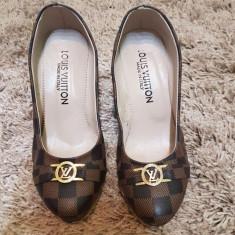 PANTOFI PLATFORMA PLUTA REPLICA LOUIS VUITTON MARIMEA 38 - Pantof dama, Culoare: Din imagine