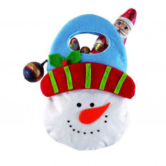 Gentuta pentru cadouri Om de zapada Pretty - Geanta handmade