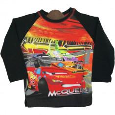 Bluza Baieti Mcqueen Cars, Disney, neagra cu imprimeu
