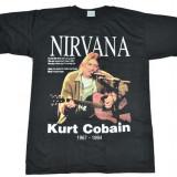 Tricou Kurt Cobain ( Nirvana ) 1967 - 1994, Marime: M