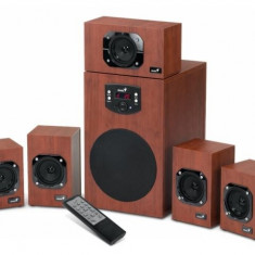 Boxe Genius SW-HF 5.1 4600 putere 125W, wood - Boxe PC Genius, 121-160W, In Subwoofer