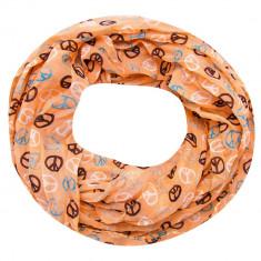 Esarfa dama Accires, circulara, somon, cu imprimeuri, vascoza, 4359SM - Esarfa, Sal Dama
