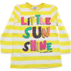 Bluza galbena pentru fetite, Little Sun Shine, bumbac