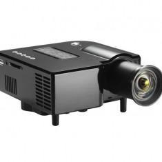Mini Videoproiector montaj Tripod LED USB 2.0 si Card SD HDMI VGA si telecomanda Practic HomeWork