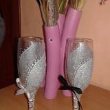 Pahare miri si mireasa setul contine 2 buc - Decoratiuni nunta