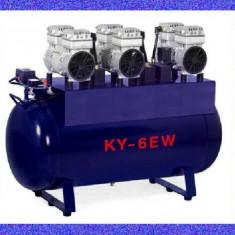 Compresor fara ulei 2520 W, 118L, uscat, silentios, 3 motoare