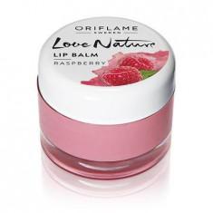 Balsam de buze cu extract din zmeura Love Nature - Gloss buze Oriflame