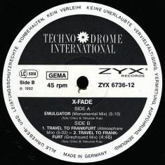 X-Fade - Emulgator 1992 disc vinil Maxi Single Techno, Industrial - Muzica House
