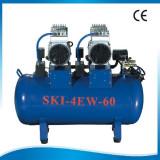 Compresor fara ulei 1680 W, 60L uscat, silentios, 2 motoare
